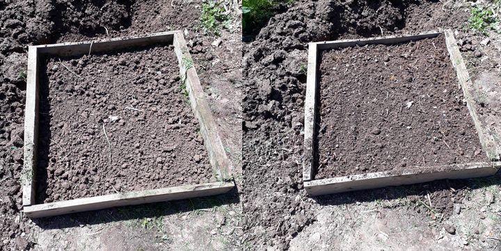 remplissage en mélange terre terreau compost